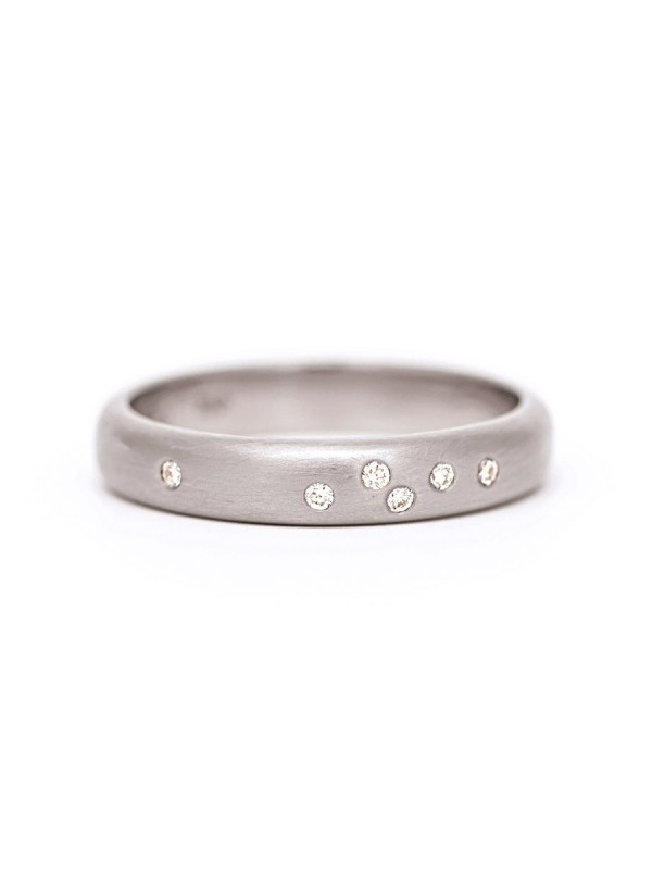 Confetti Wedding Ring – White Gold & Diamond