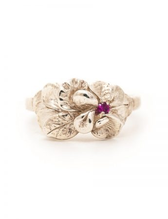 Floral Spray Ring - Ruby