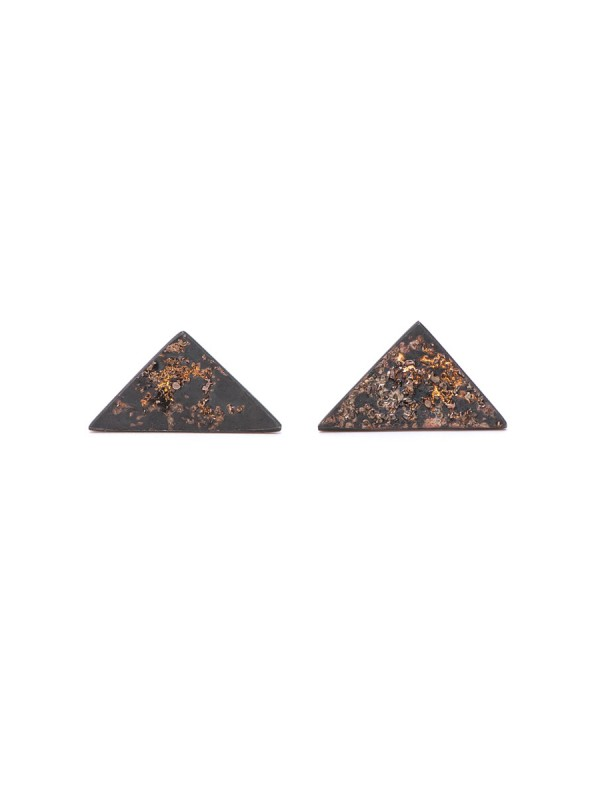 Galaxy Triangle Stud Earrings – Oxidised