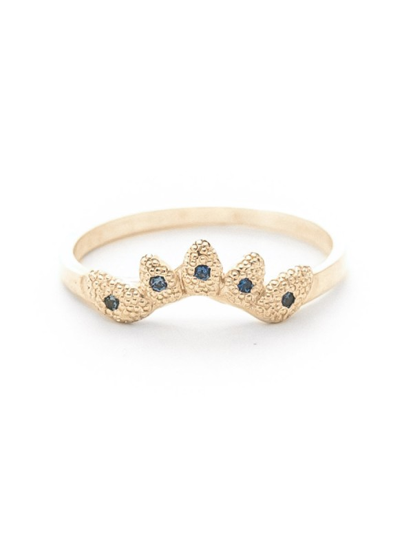 Leaf Crown Ring – Sapphire