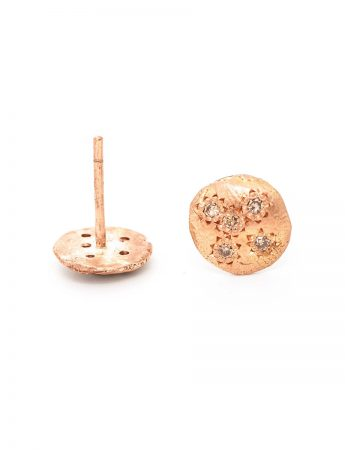 Little Stud Earrings - Rose Gold & Diamond