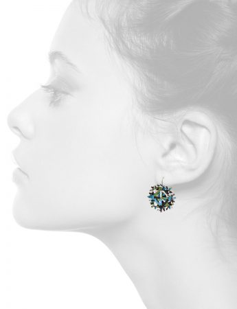 Nest Earrings – Blue & Green