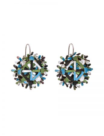Nest Earrings - Blue & Green