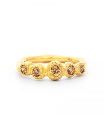 Petite Trousseau Ring - Yellow Gold & Champagne Diamonds