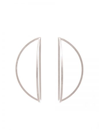 Outlines Earrings - Large Silver