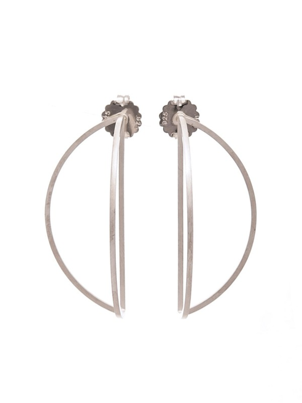 Outlines Earrings – Large Silver
