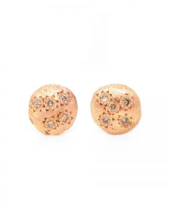 Little Earrings - Rose Gold & Champagne Diamond