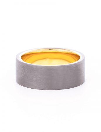 Gold & Tantalum Flat Profile Ring