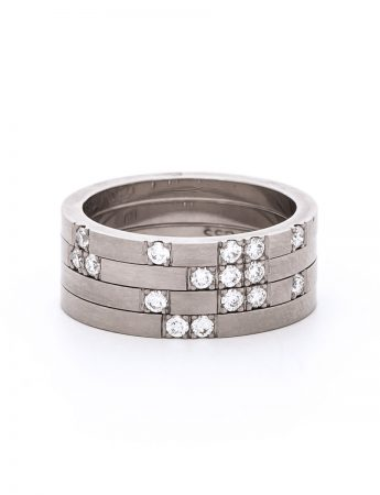 Roma Four Stack Ring - Diamond