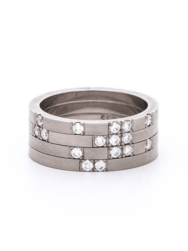 Roma Ring Stack – Diamond