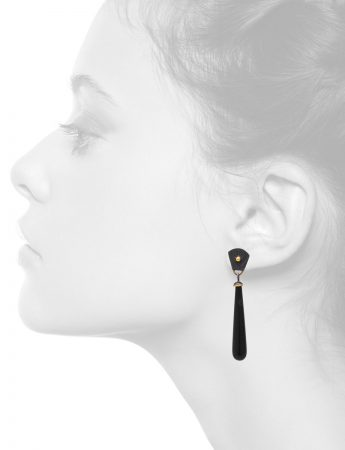 Anubis Earrings – Silver & Onyx