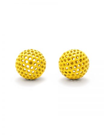 Ball Stud Earrings - Yellow