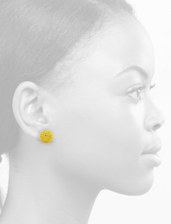 Ball Stud Earrings – Yellow