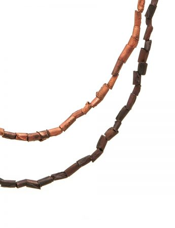 Beaded Shibuichi Necklace