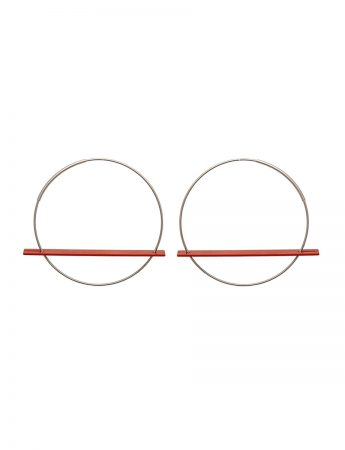 Blade Earrings - Red