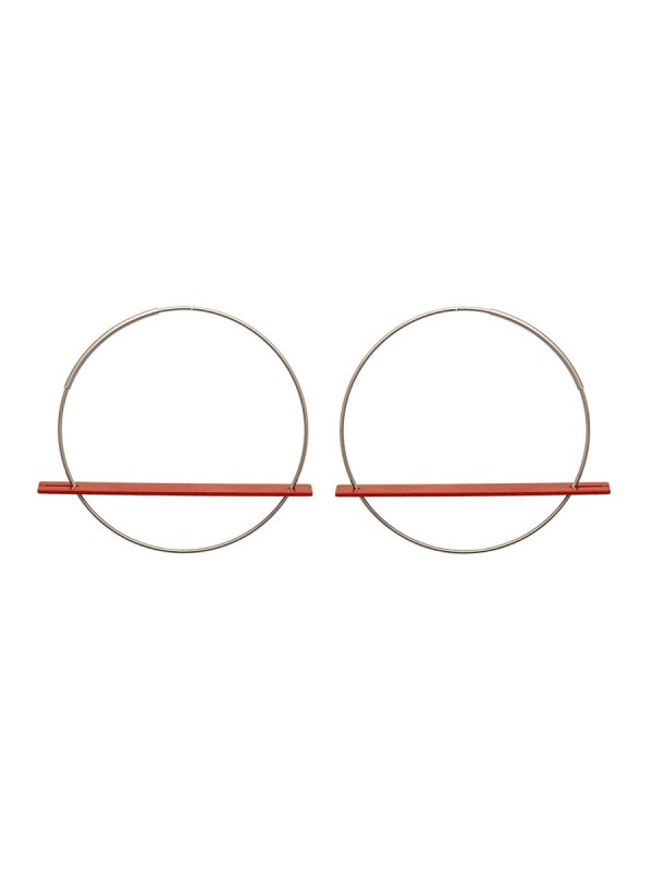 Blade Earrings – Red