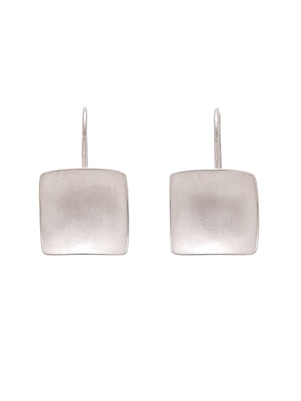 Domed Square Hook Earrings