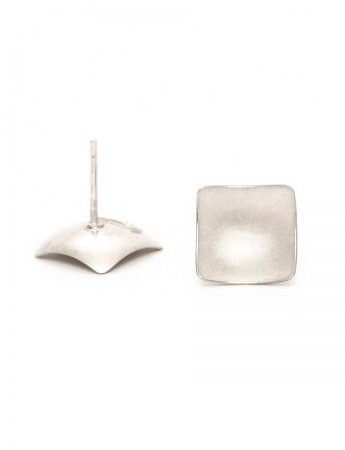 Domed Square Stud Earrings