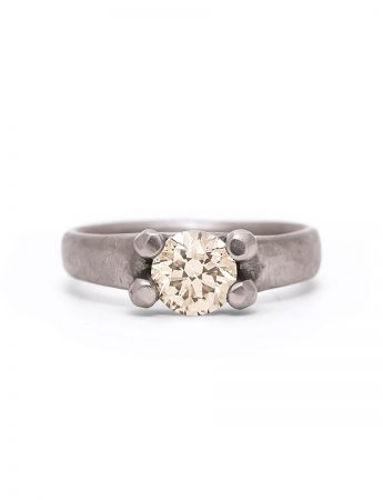 Elemental Solitaire Ring - Champagne Diamond