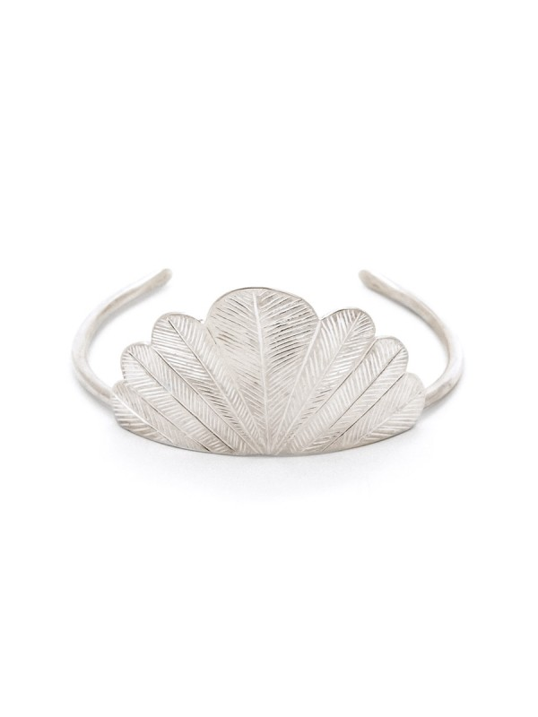 Feather Cuff – Silver