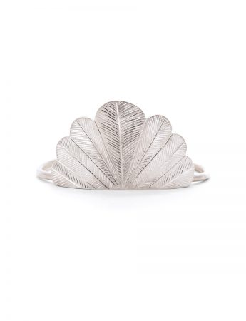 Feather Cuff - Silver