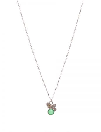 Feather Pop Necklace - Chrysoprase