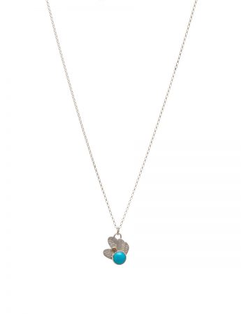 Feather Pop Necklace - Turquoise