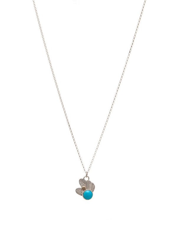 Feather Pop Necklace – Turquoise