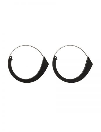 Folded Earrings - Black