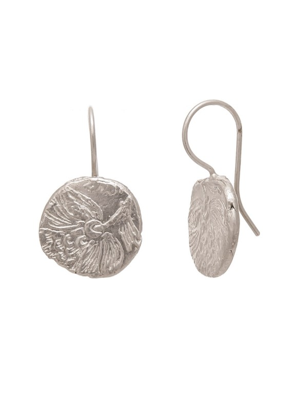 Fragment Round Hook Earrings – Silver