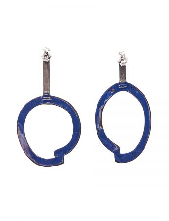 Freckles Earrings – Dark Blue