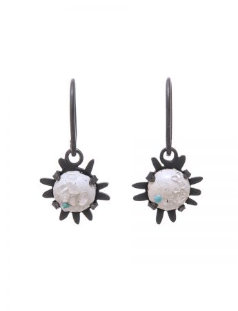 Galaxy Hook Earrings - Blue Dot