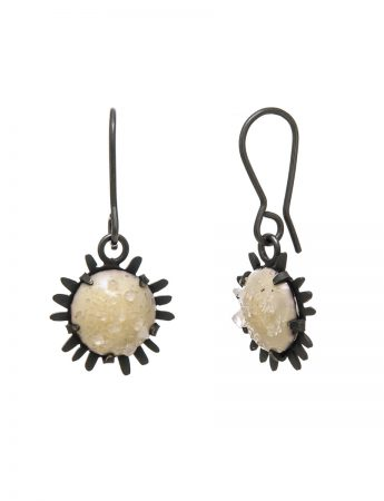Oxidised Galaxy Hook Earrings – Cream