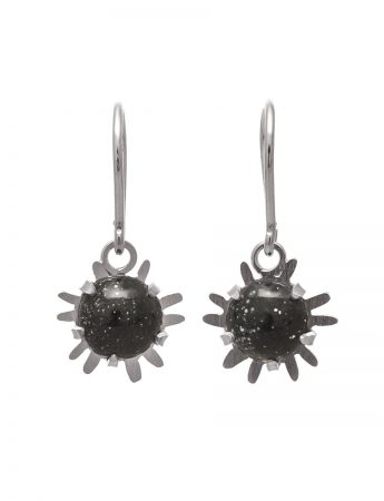 Small Galaxy Hook Earrings - Dark Grey