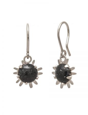 Small Galaxy Hook Earrings – Dark Grey