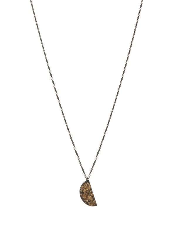 Galaxy Planet Pendant Necklace – Oxidised