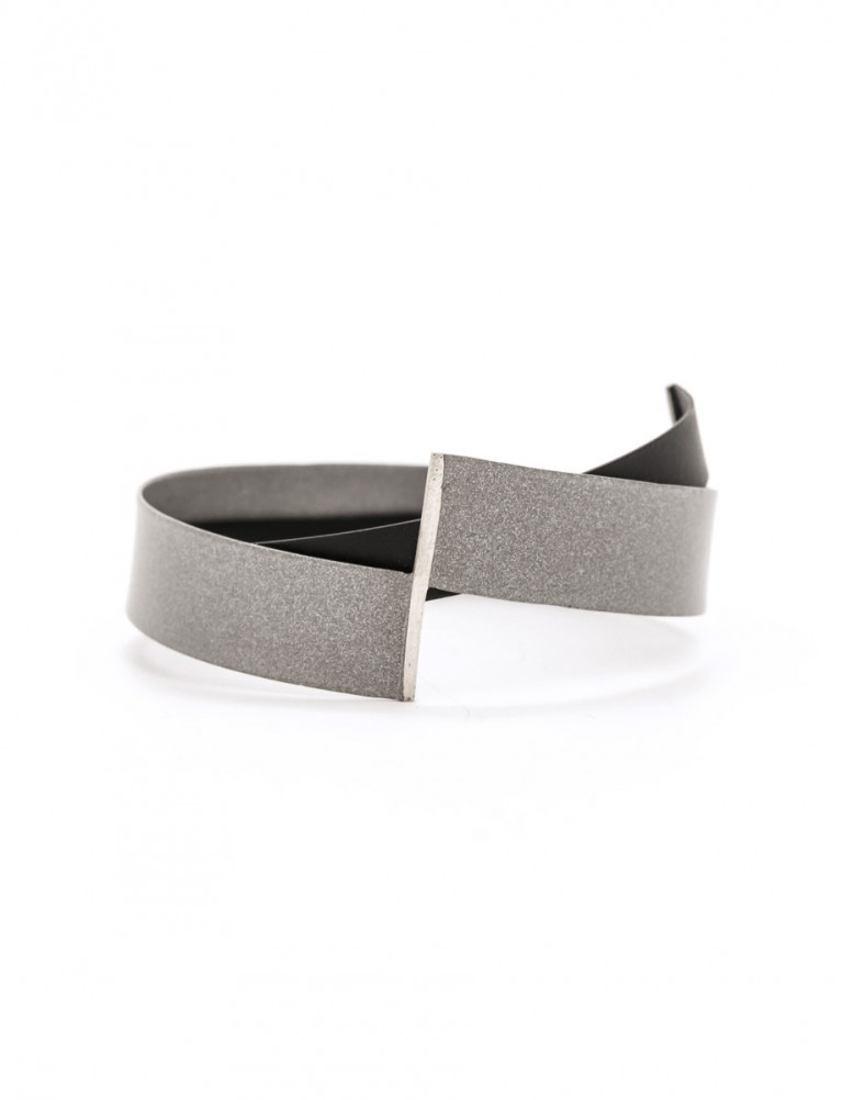 Grey & Black Mild Steel Bangle