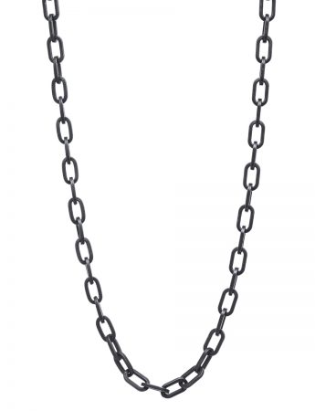 Heavy Chain - Oxidised Silver Necklace