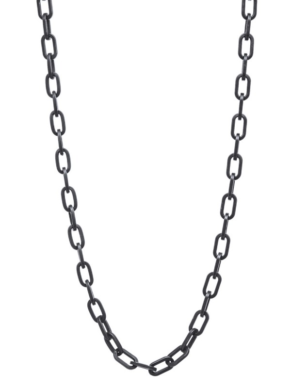 Heavy Chain – Oxidised Silver Necklace