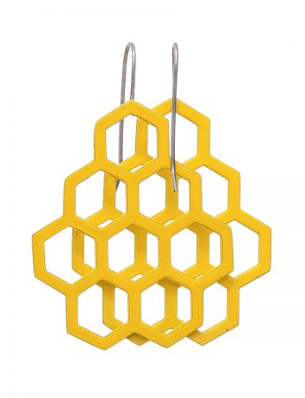 Honeycomb Earrings – Yellow