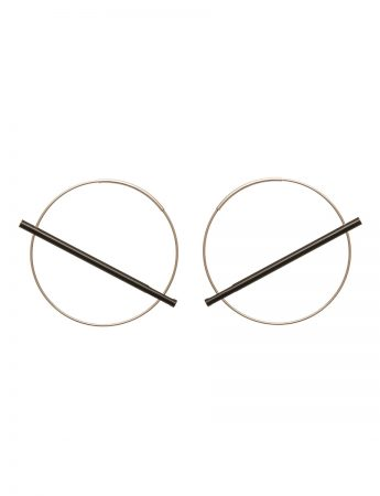 Intersecting Line Earrings - Black