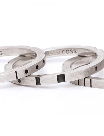 Metropolis Four Stack Ring - Silver