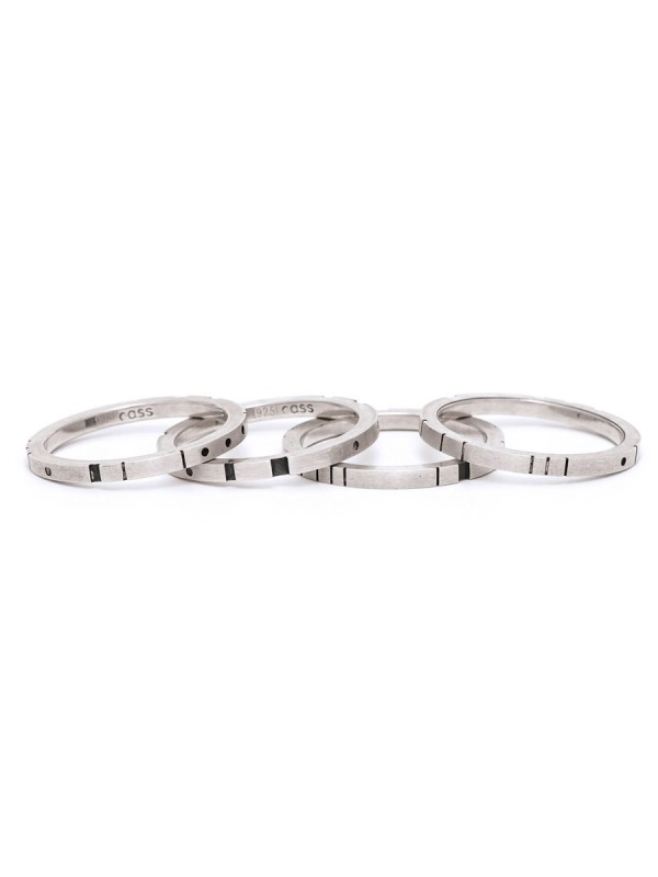 Metropolis Four Stack Ring – Silver