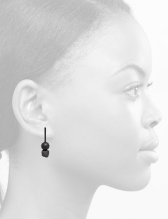 Short Rotation Earrings – Black