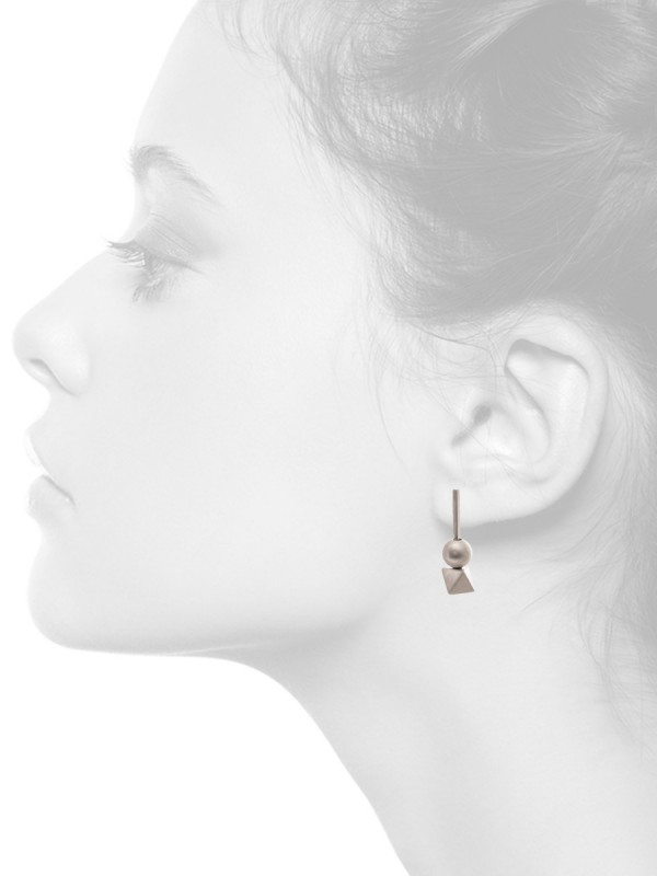 Short Rotation Earrings – Silver