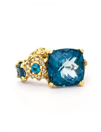 The Other Shore Ring - Topaz & Diamond