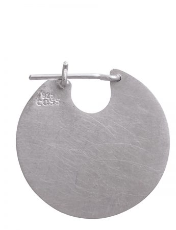 Small U Disc Earrings - Silver