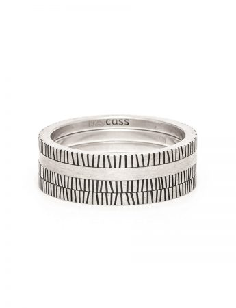Zebra Four Stack Ring – Silver