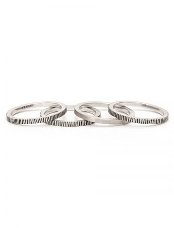Zebra Four Stack Ring - Silver