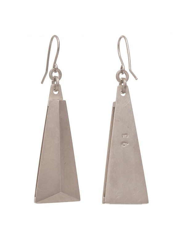 Blade Earrings – Matte Silver